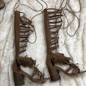 boutique gladiator heeled sandals size 9